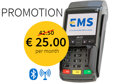 EMS contactless mobile payment terminal BT + GPRS
