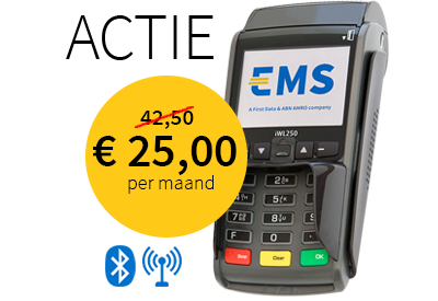 EMS contactloze betaalautomaat iWL250