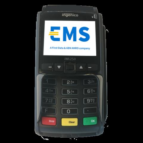 iWL250 mobiele GPRS pinautomaat vooraanzicht
