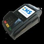 iWL250 mobiele BT GPRS betaalautomaat met base unit op elkaar