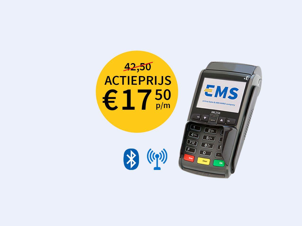ACTIE iWL250 Bluetooth + GPRS betaalautomaat
